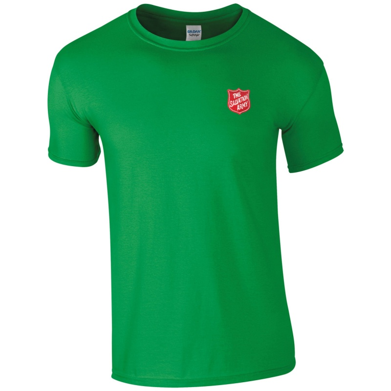 Essentials T Shirt - Green with Shield