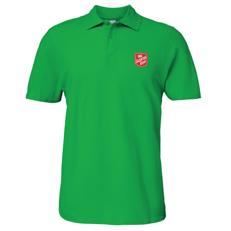 Essentials Polo Shirt - Green with Shield