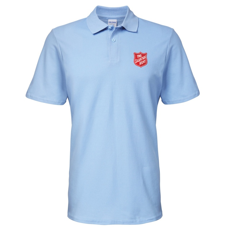 Essentials Polo Shirt - Blue with Shield