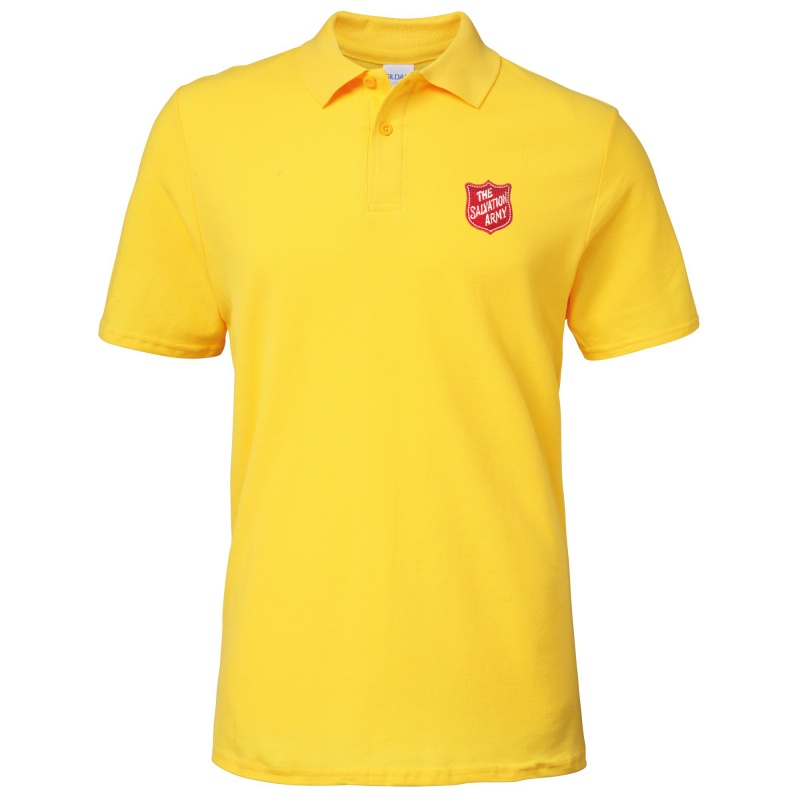 Essentials Polo Shirt - Yellow with Shield