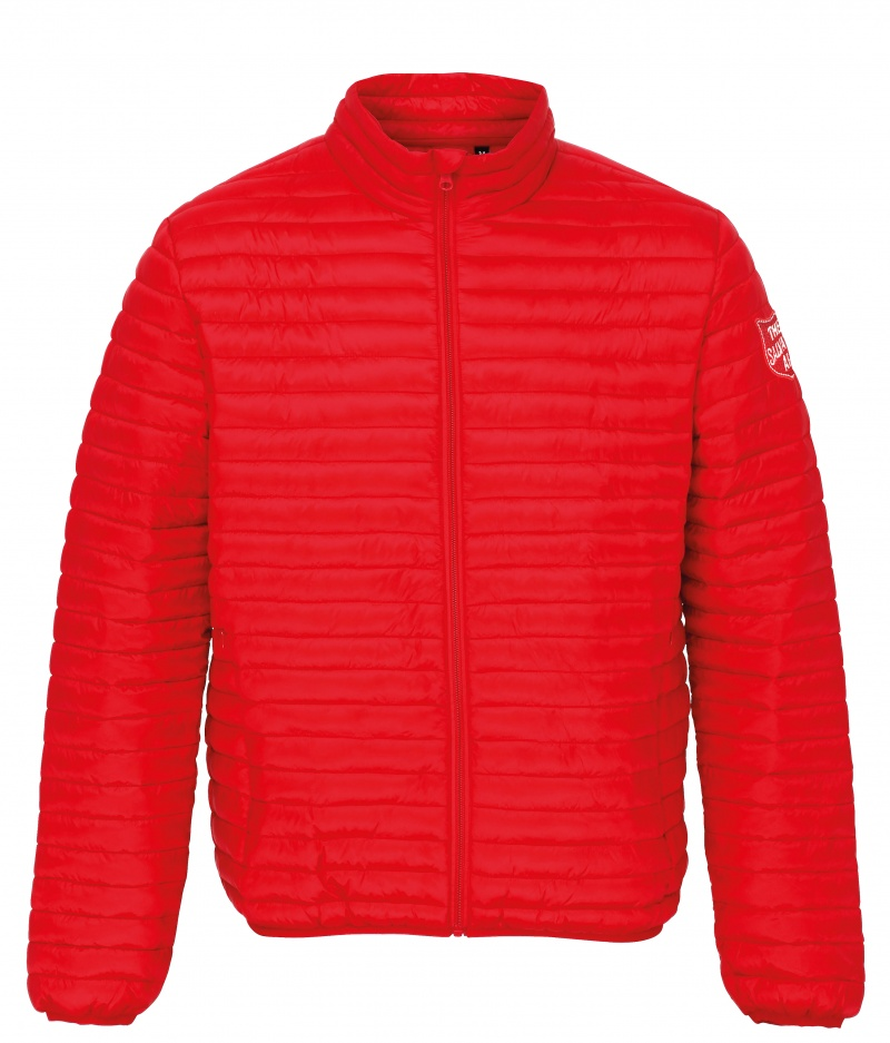 Padded Jacket - Red with Shield
