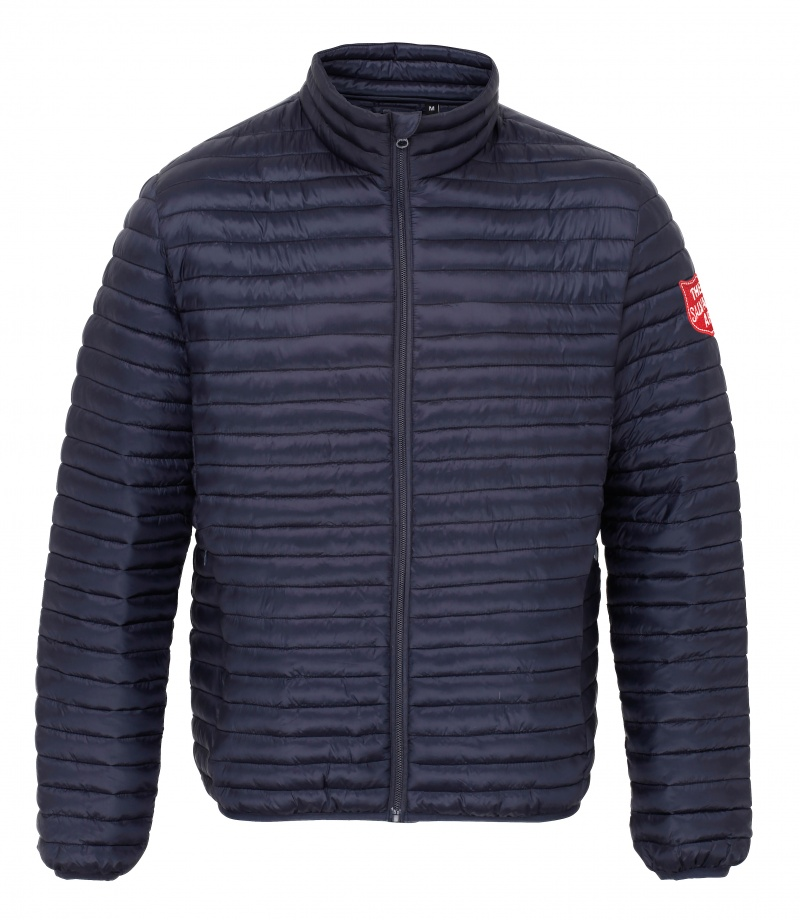 Padded Jacket - Navy with Shield