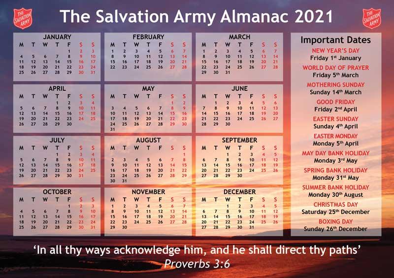 Salvation Army Almanac 2021 Salvationist Publishing