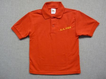 S A Kid's Polo Shirt Red