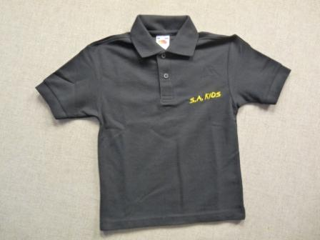SA Kids Polo Shirt Black