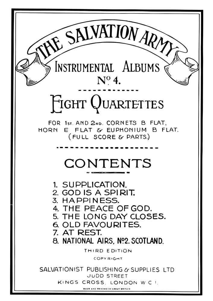 Instrumental Album No.4 - Eight Quartettes