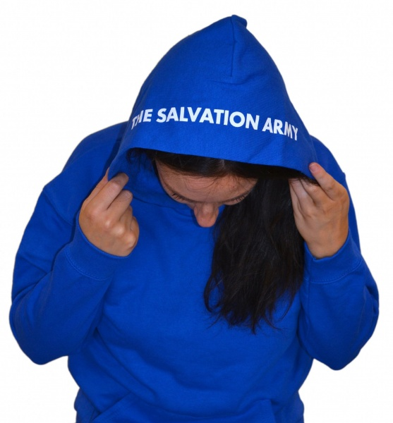 Children's Hoodie with The Salvation Army on hood
