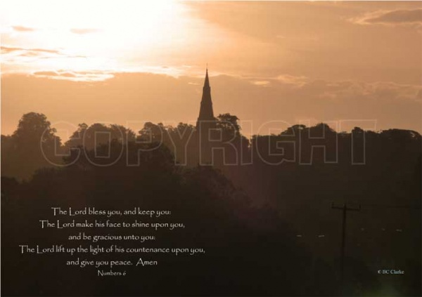 Church Sunrise Mounted Print