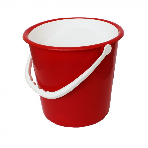 Collection Bucket with White Lid