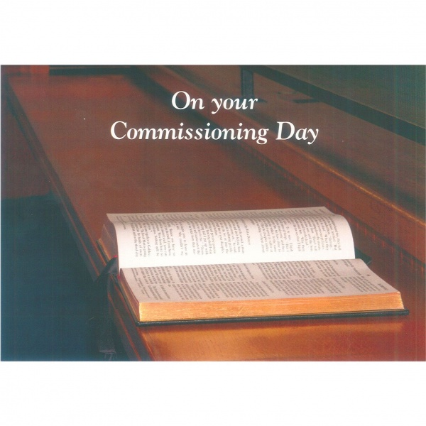Commissioning Card -  Bible