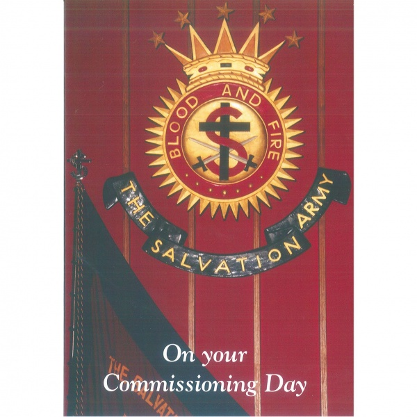 Commissioning Card - Crest and Flag