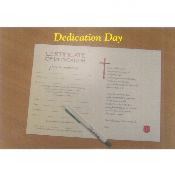 Dedication Card - Certificate