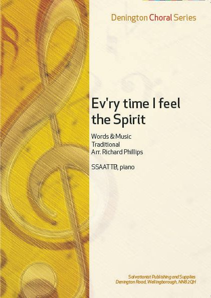 EV'RY TIME I FEEL THE SPIRIT - SSAATTB, Piano