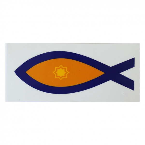 Fish Logo Interior Car Sticker