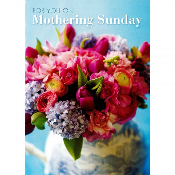 Flower Arrangement Mothers Day Card