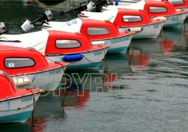 Hire Boats Mounted Print
