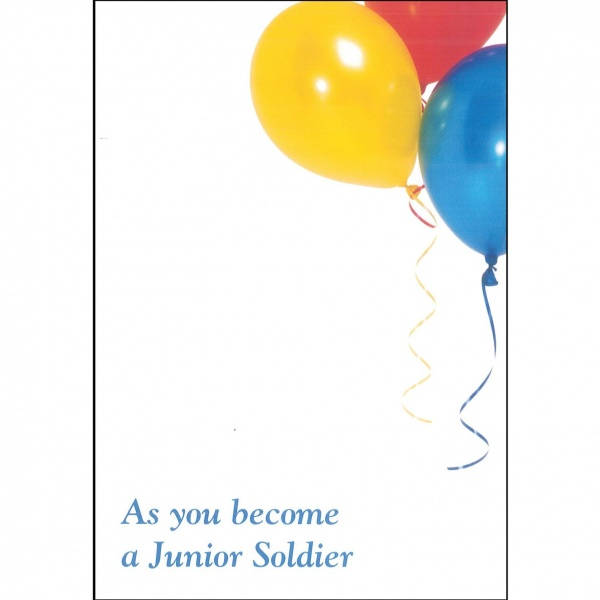 Junior Soldier Card - Balloons