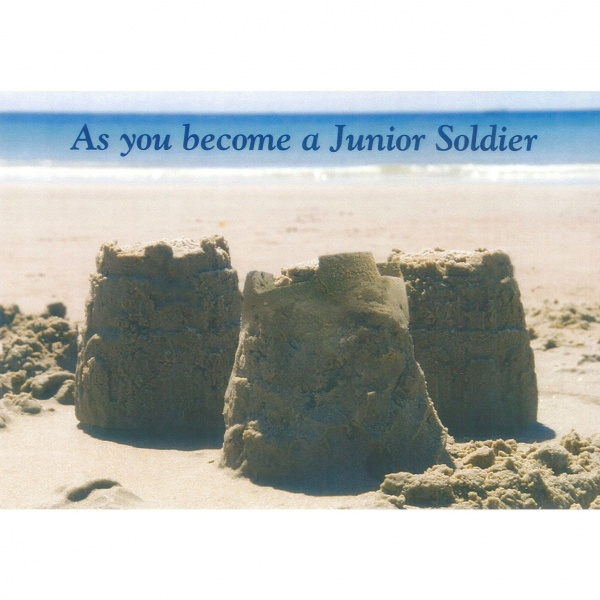 Junior Soldier Card - Sandcastles