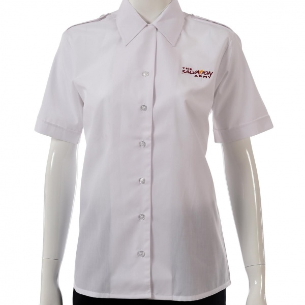 Ladies Short Sleeve Blouse - Logo & Epaulettes