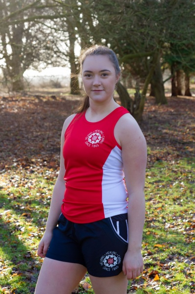 Ladies Sports Vest - Red and White