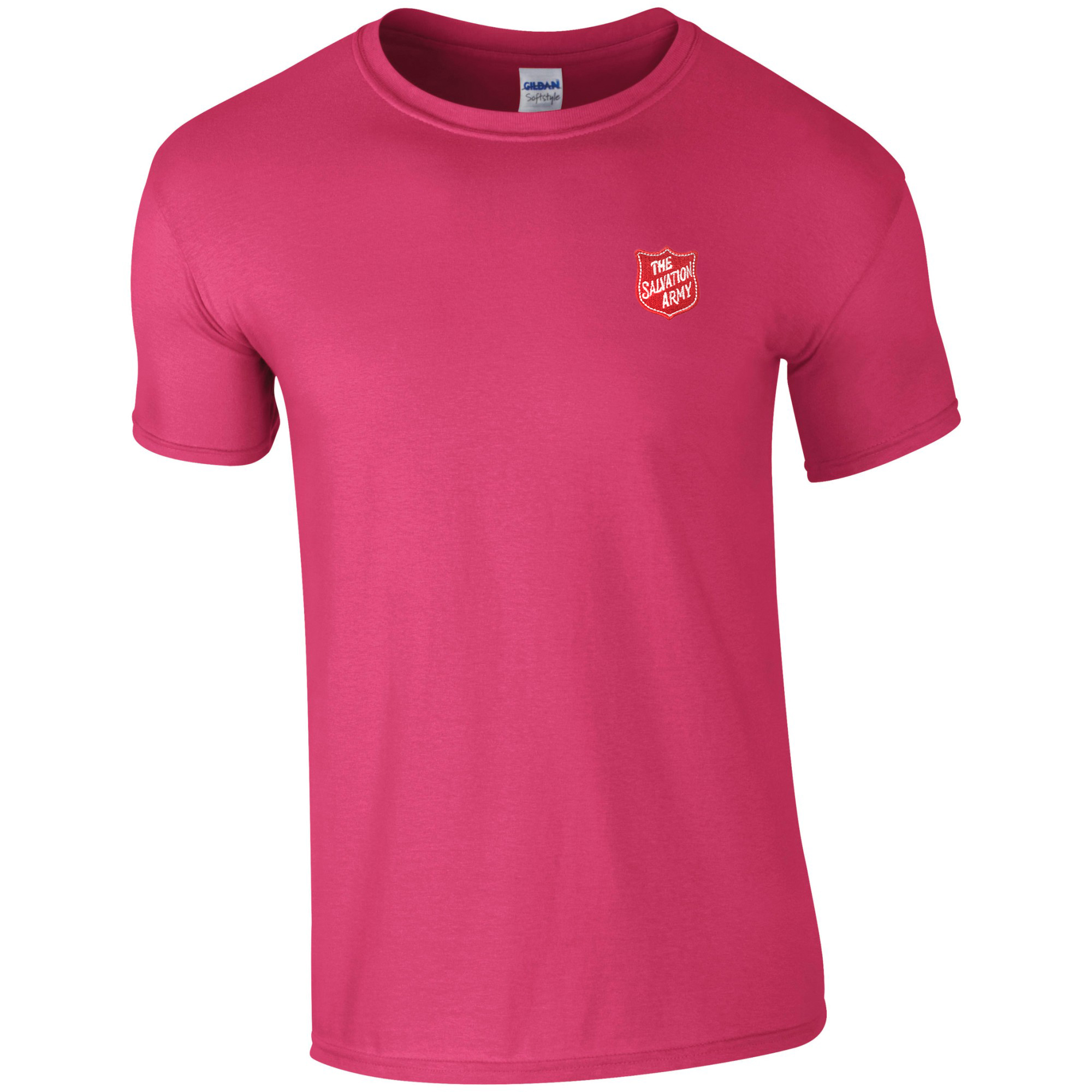 Essentials T Shirt - Pink with Shield