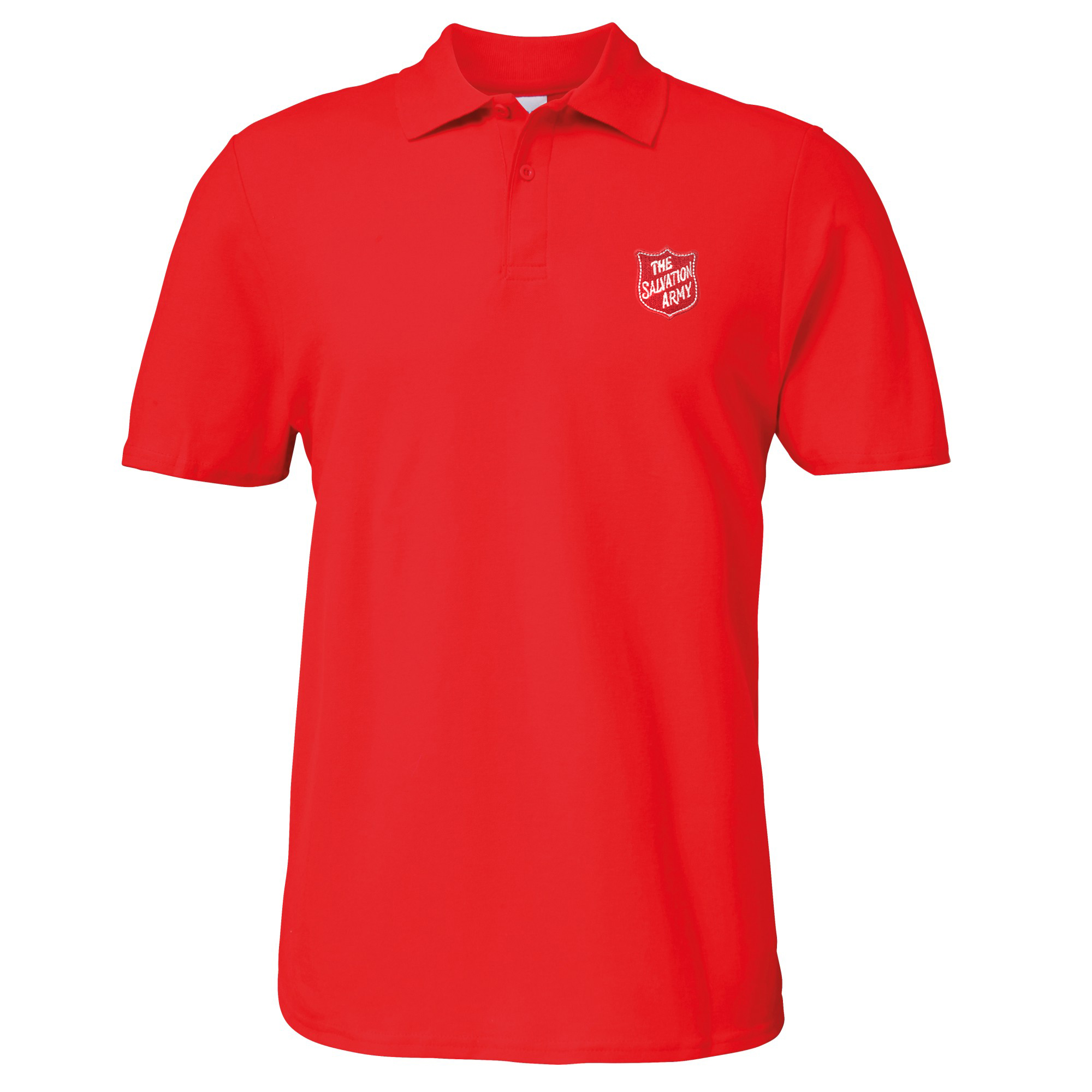 Essentials Polo Shirt - Red with Shield