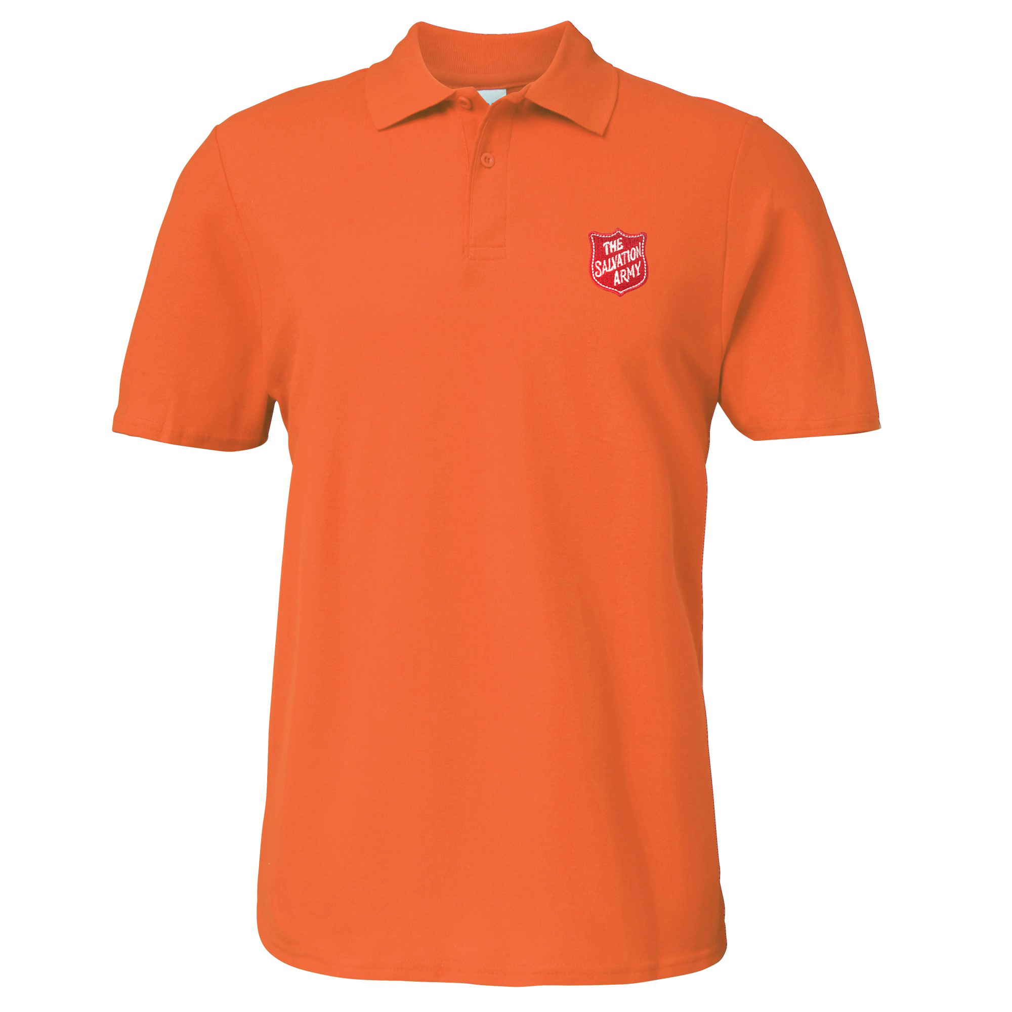 Essentials Polo Shirt - Orange with Shield