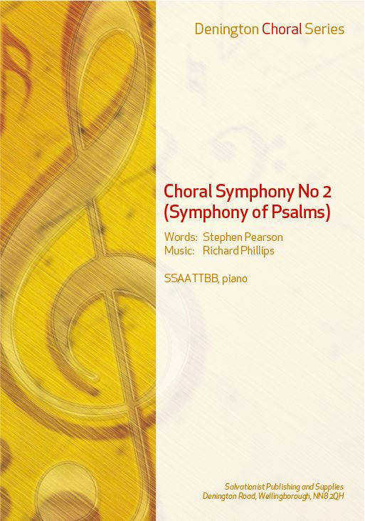 CHORAL SYMPHONY No. 2 (SYMPHONY OF PSALMS)- SSAATTBB, PIANO