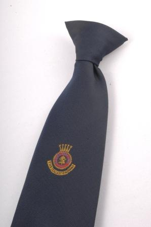 Clip On Tie with Coloured Crest