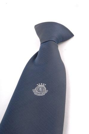 Clip On Tie  with Small White Crest