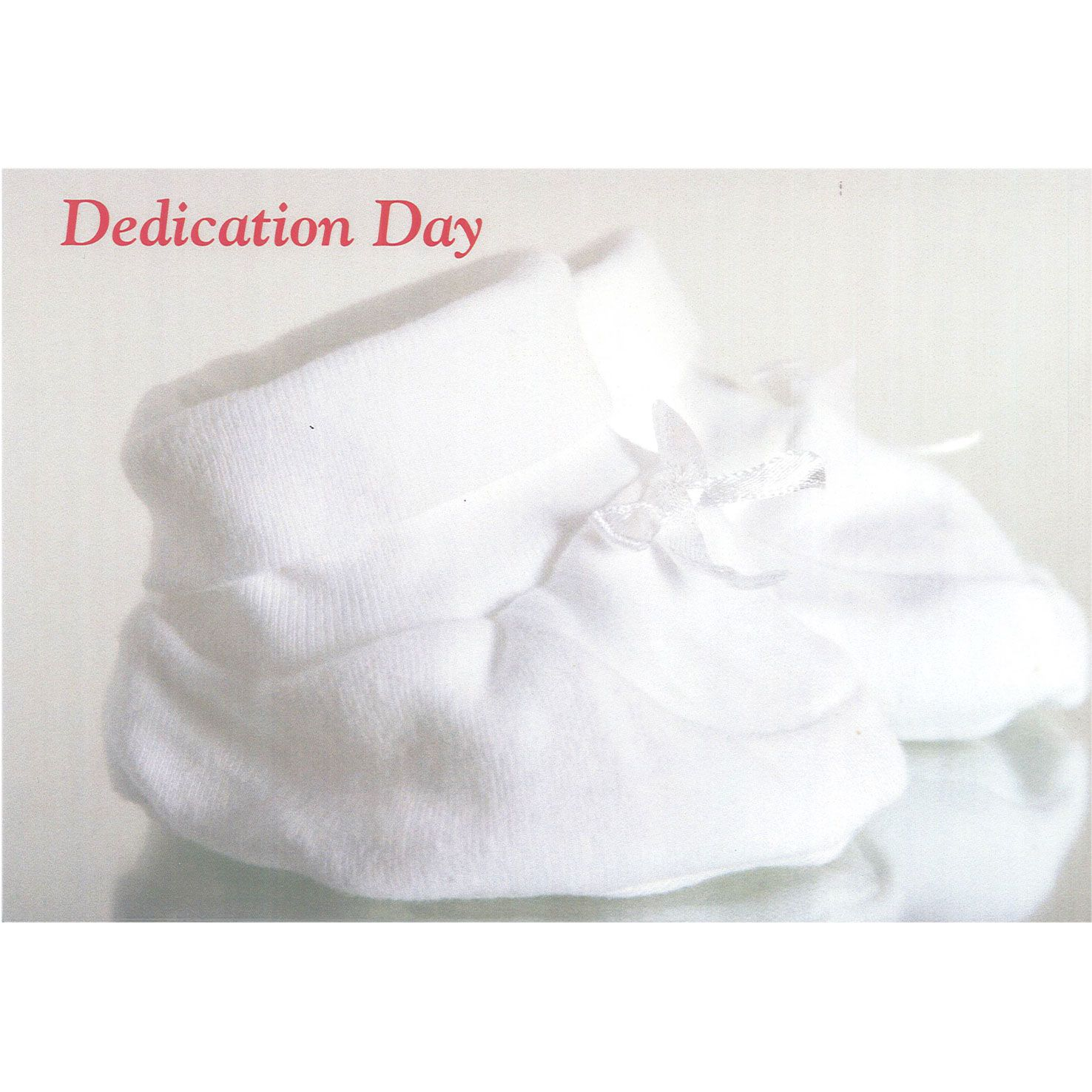 Dedication Card - Booties