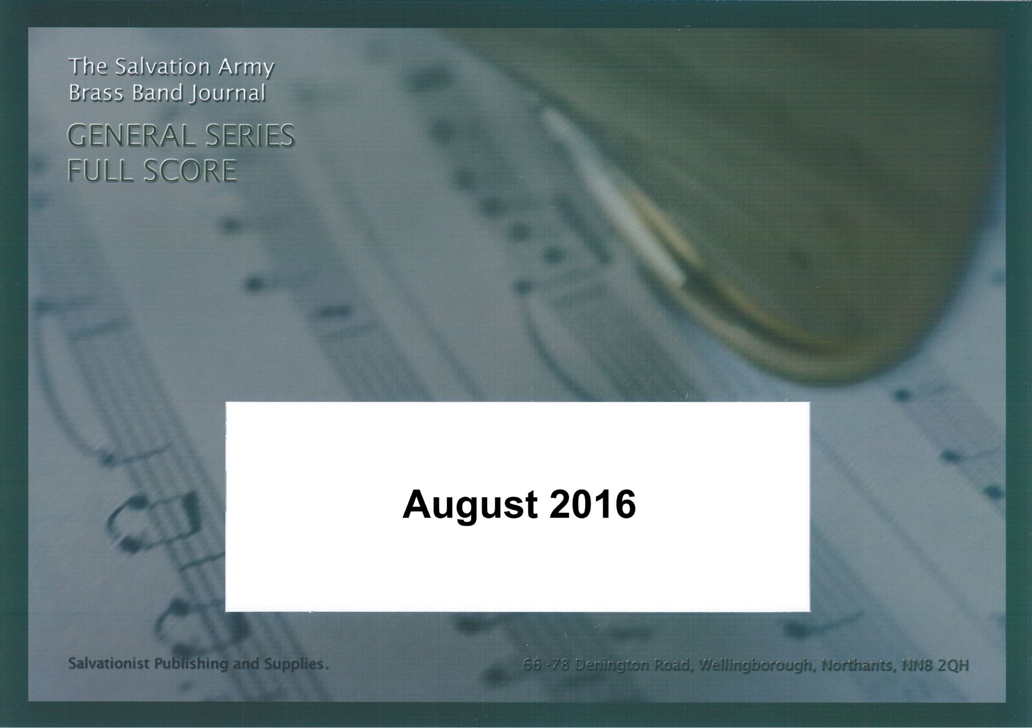 General Series Band Journal August 2016 Numbers 2158 - 2161