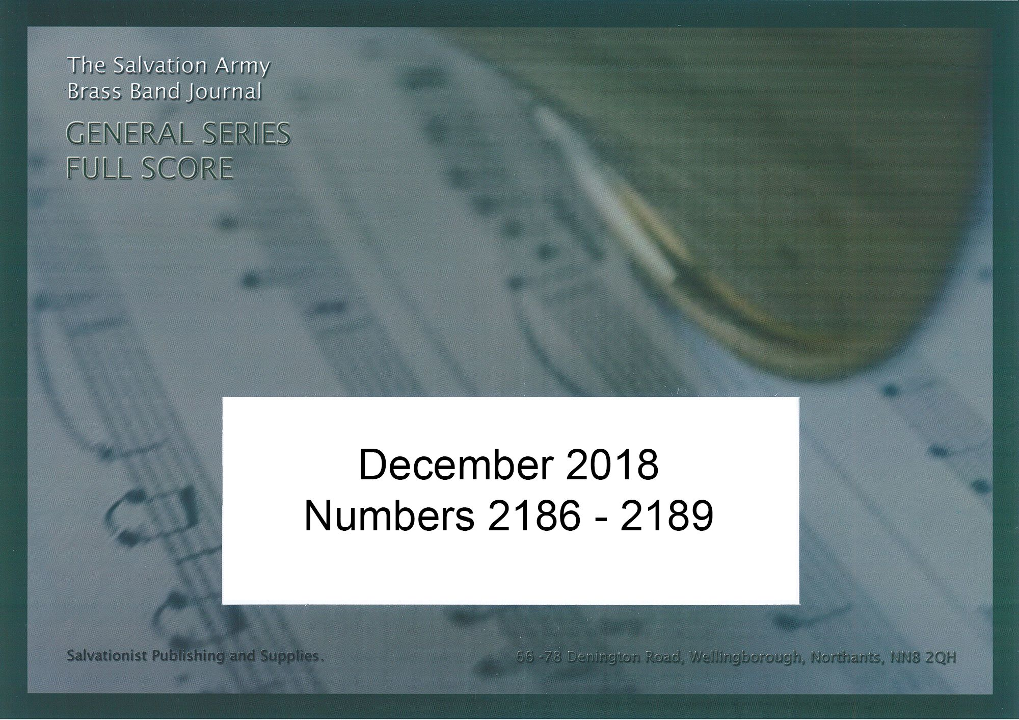 General Series Band Journal December 2018 Numbers 2186 - 2189