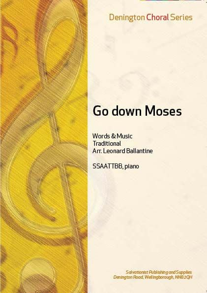GO DOWN MOSES - SSAATTBB, Piano