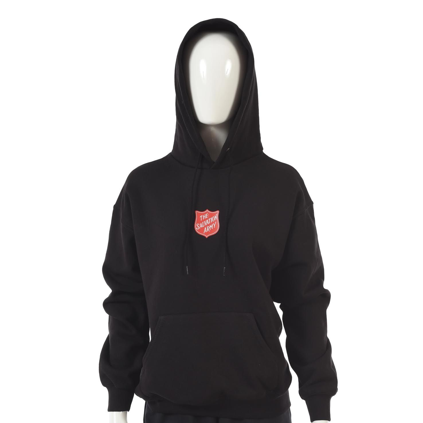 Hoodie with Red Shield Logo