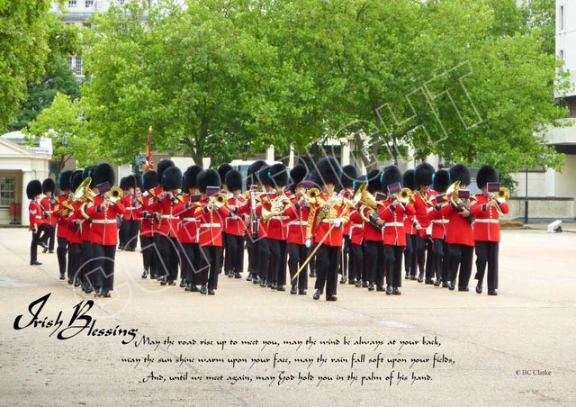 Irish Guards Band Mounted Print