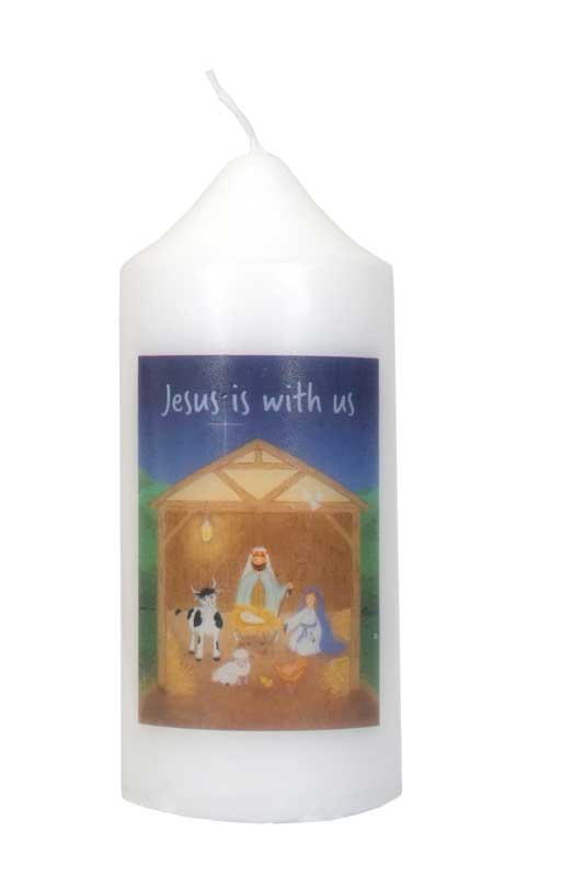 Jesus is with Us Candle