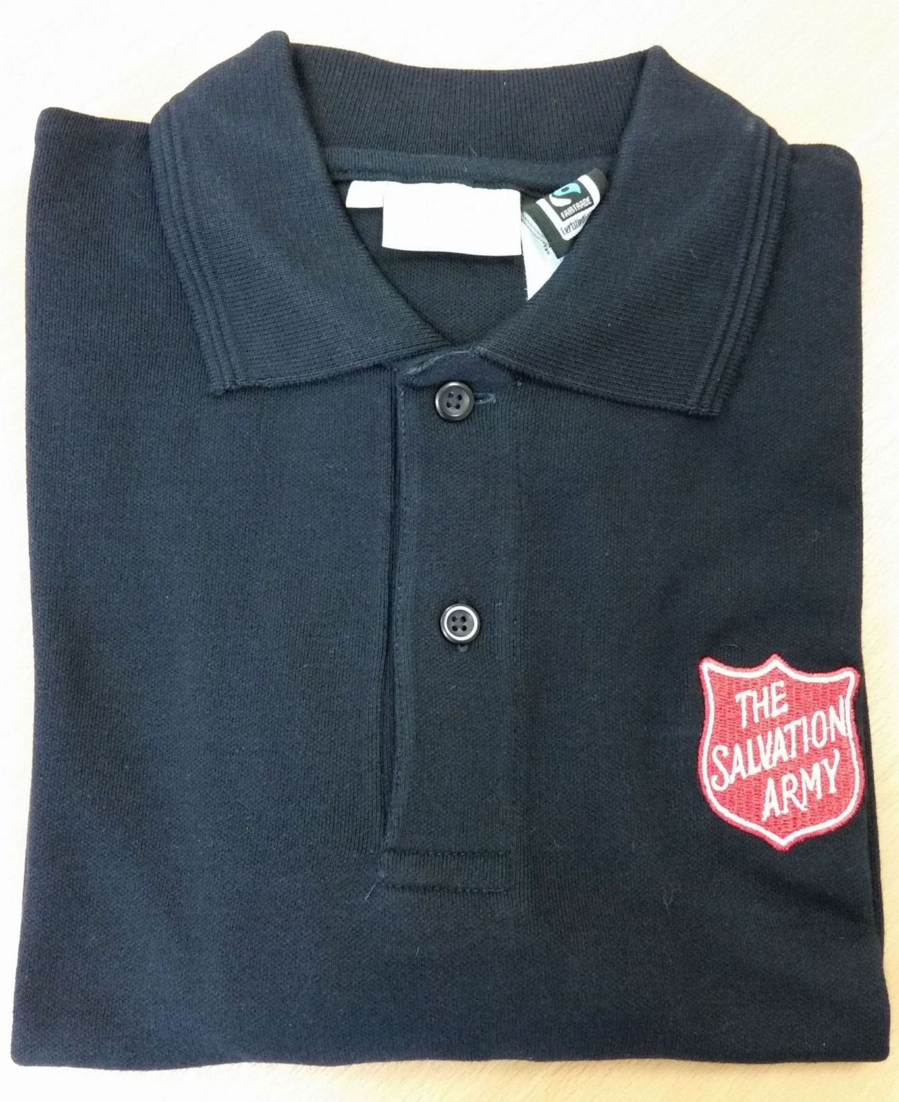 Kid's Navy Polo Shirt with Red Shield