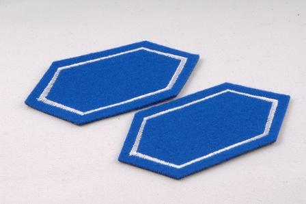 Lapel Patch Blue White Pair