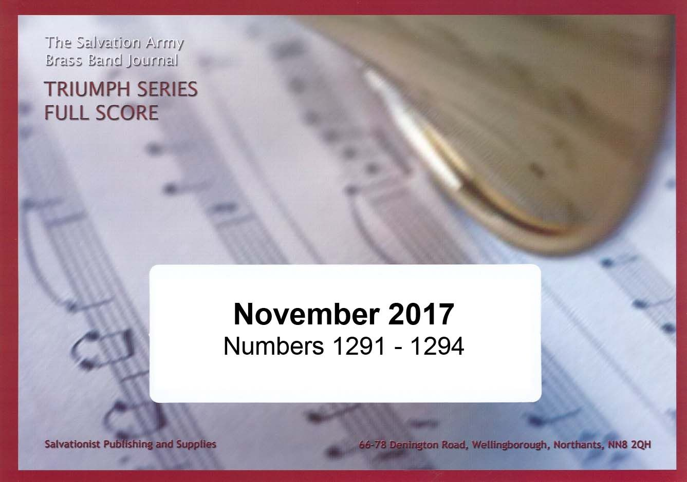 Pre-order: Triumph Series Band Journal November 2017 Numbers 1291-1294