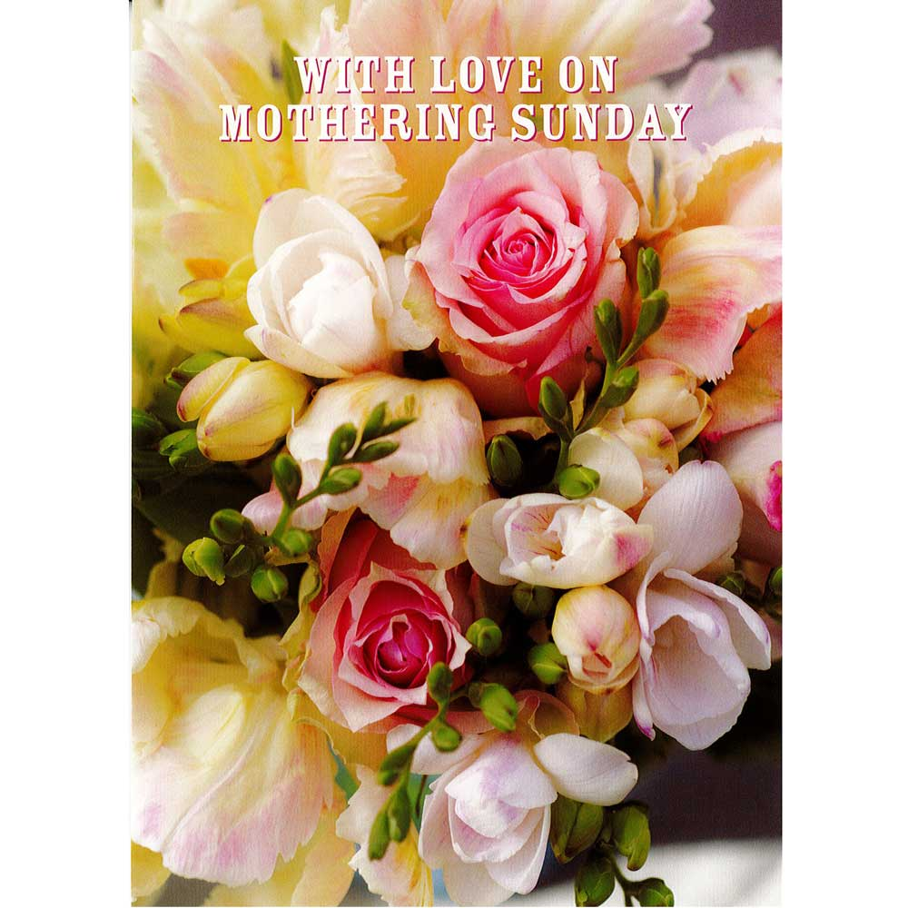Roses & Freesias Mothers Day Card