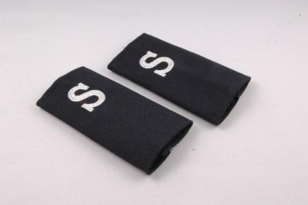 Shirt Epaulettes Mens Sleeve Navy with White S (Pair)