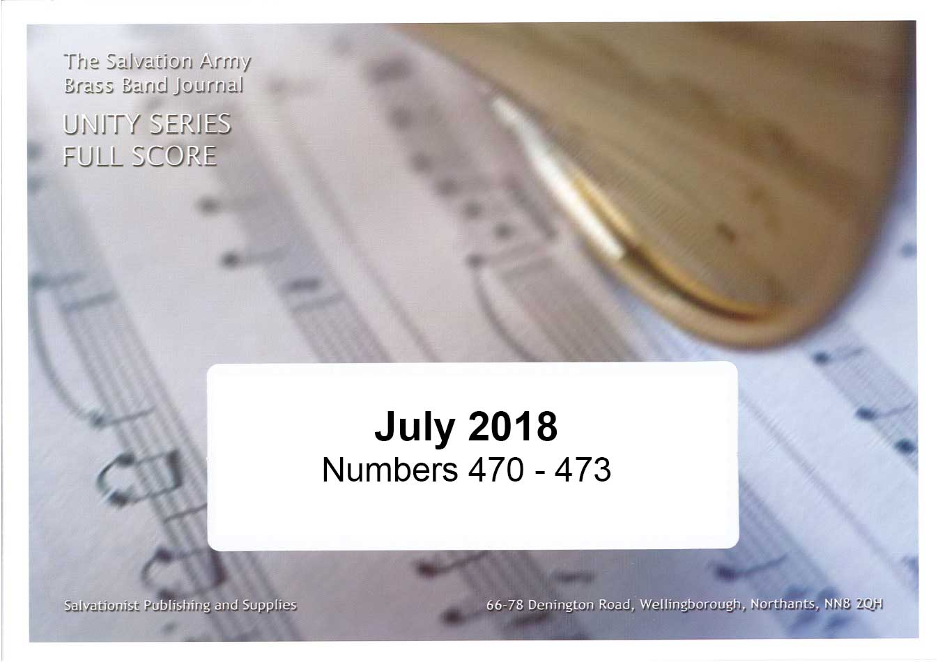 Unity Series Band Journal July 2018 - Numbers 470-473