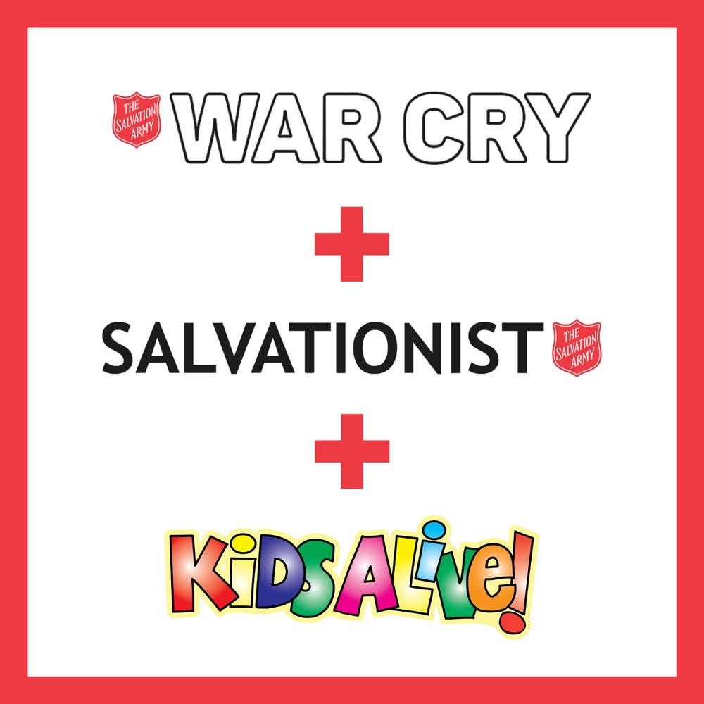 War Cry, Salvationist & Kids Alive Annual Subscription