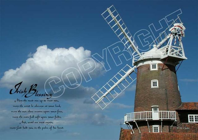 Windmill Mounted Print
