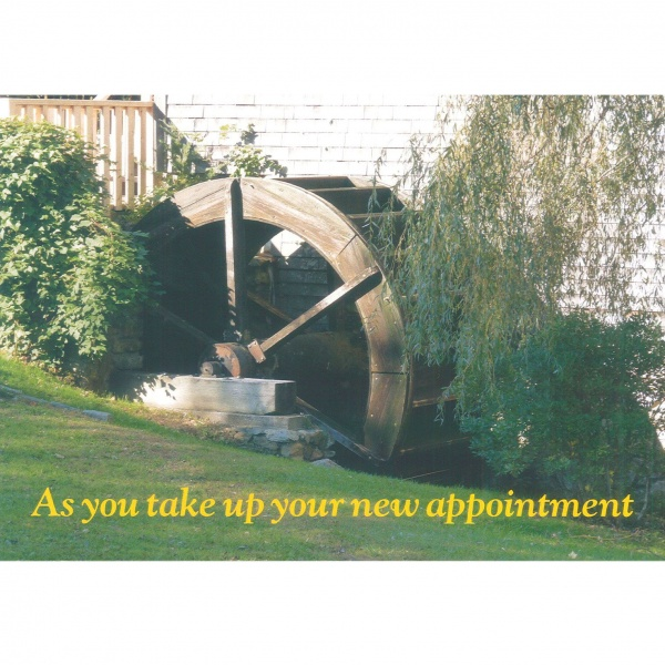 New Appointment Card - Water Wheel