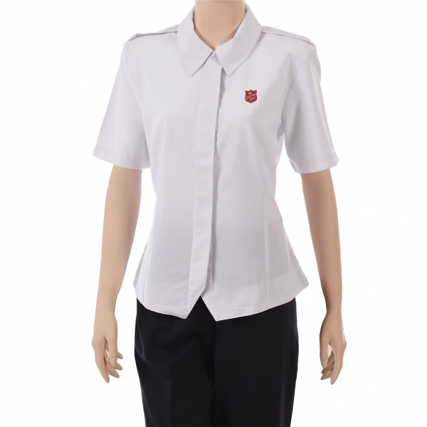 New Style Premier Blouse - Red Shield