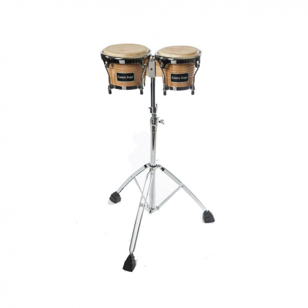 Pair of Bongos with High Grade Stand and Bag